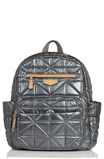 Infant Twelvelittle Quilted Water Resistant Nylon Diaper Backpack - Black