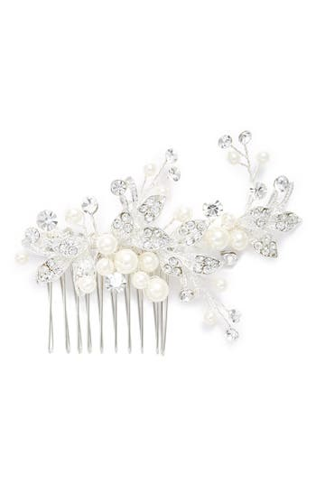 Brides & Hairpins 'Catherine' Jeweled Hair Comb, Size One Size - Grey
