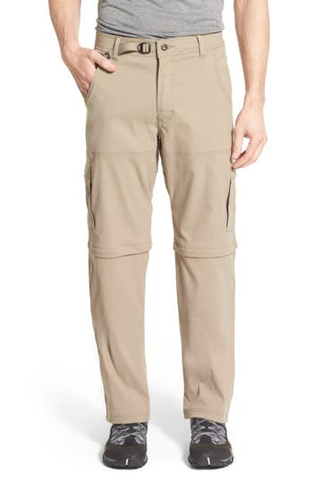 Prana Zion Stretch Convertible Cargo Hiking Pants, Beige