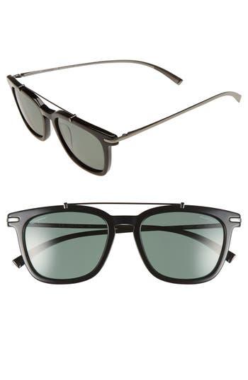 Men's Salvatore Ferragamo 54Mm Polarized Sunglasses - Black