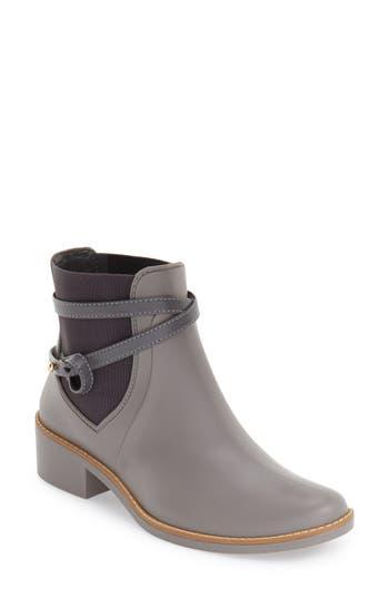 Bernardo Peony Short Waterproof Rain Boot, Grey