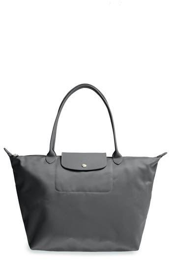Longchamp 'Large Le Pliage Neo' Nylon Tote - Grey
