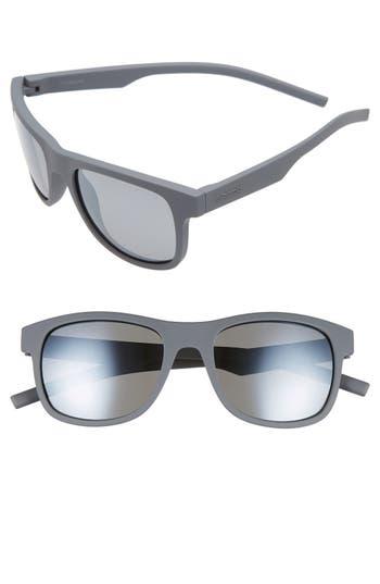Polaroid Eyewear 51Mm Polarized Retro Sunglasses - Grey