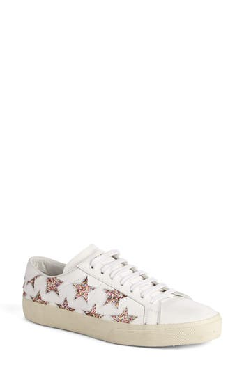 Saint Laurent Classic Court Sneaker, White