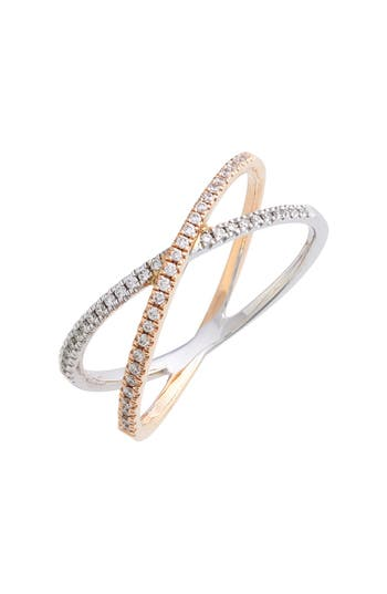 Women's Bony Levy Stackable Crossover Diamond Ring (Nordstrom Exclusive)