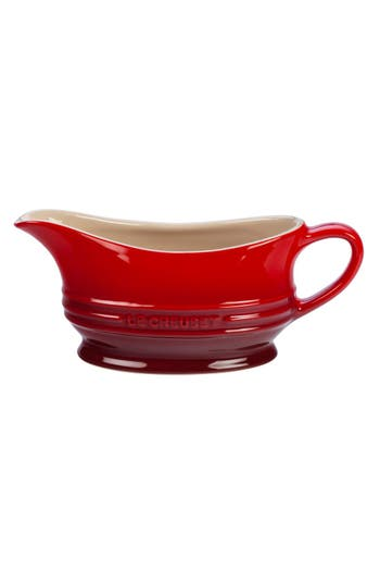 Le Creuset Stoneware Gravy Boat, Size One Size - Red
