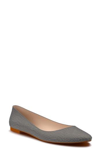 Shoes Of Prey Ballet Flat - Grey