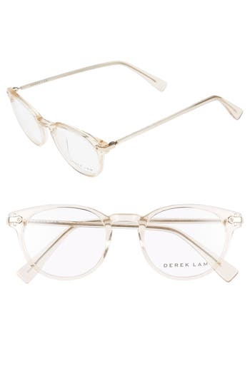 Women's Derek Lam 48Mm Optical Glasses - Dark Grey