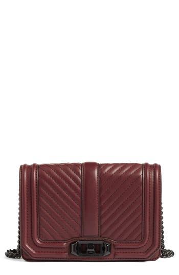 Rebecca Minkoff Small Love Leather Crossbody Bag - Burgundy