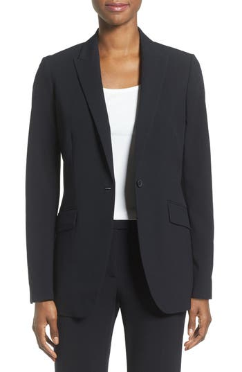 Anne Klein Long Boyfriend Suit Jacket