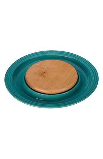 Le Creuset Round Platter With Cutting Board, Size One Size - Blue