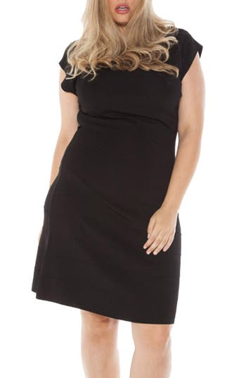 Plus Size Slink Jeans Cap Sleeve Knit A-Line Dress