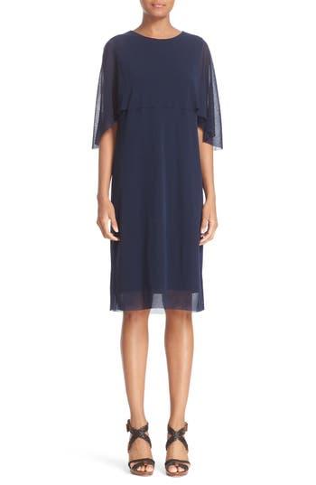 Fuzzi Tulle Capelet Dress