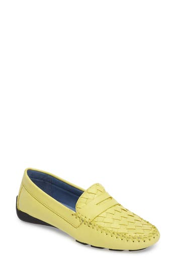 Women's Robert Zur 'Petra' Driving Shoe, Size 7.5 M - Yellow