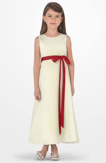 Girls Us Angels Sleeveless Satin Dress Size 6  Red