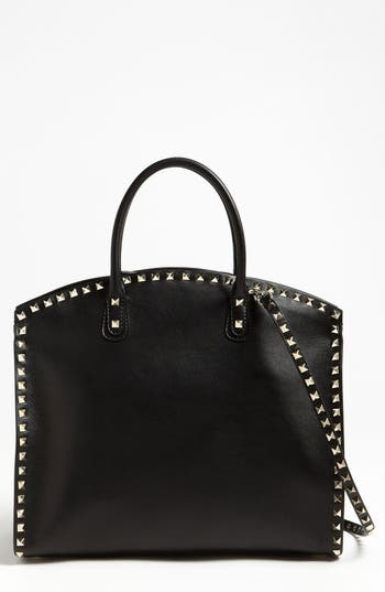 Valentino 'Rockstud' Leather Dome Satchel -