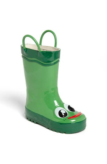 Boys Western Chief Frog Rain Boot Size 4 M  Green