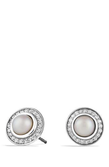 Women's David Yurman 'Cerise' Mini Earrings With Semiprecious Stone & Diamonds