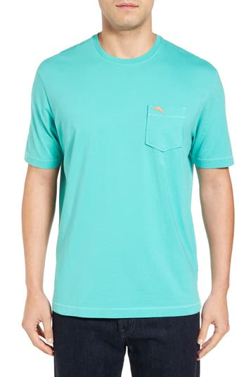 Big & Tall Tommy Bahama New Bali Sky Pima Cotton Pocket T-Shirt, Green
