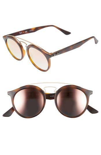 Ray-Ban Highstreet 4m Gatsby Round Sunglasses - Copper