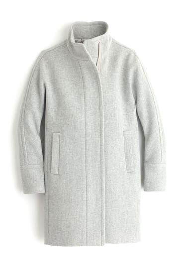 Women's J.crew Stadium Cloth Cocoon Coat, Size 00 - Grey