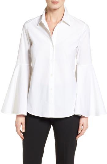 Petite Women's Vince Camuto Bell Sleeve Shirt