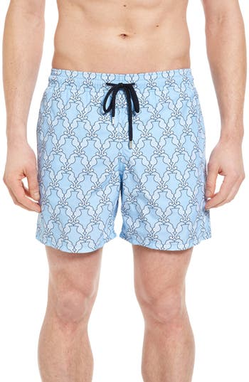 Vilebrequin Diamond Seahorse Print Swim Trunks
