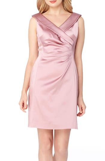 Tahari Satin Sheath Dress