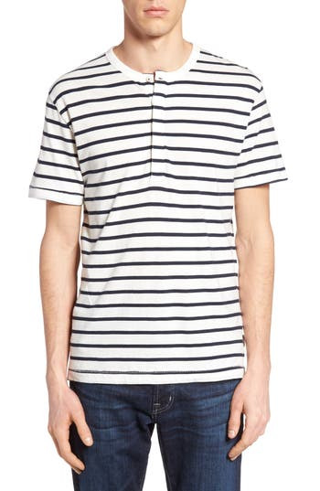 French Connection Stripe Henley Top