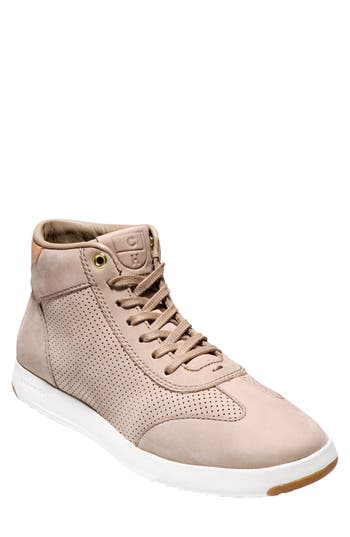 Cole Haan Grandpro High Top Sneaker, Beige