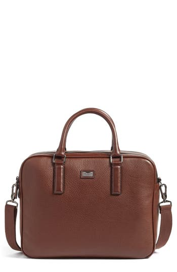 Ted Baker London Leather Document Bag - Brown