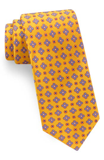 Men's Ted Baker London Lansbury Floral Silk Tie, Size Regular - Yellow
