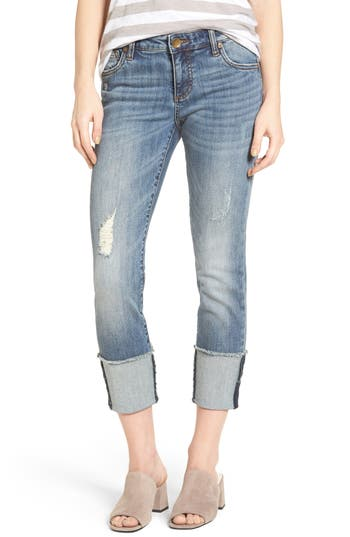 Kut From The Kloth Cameron Roll Cuff Straight Leg Jeans