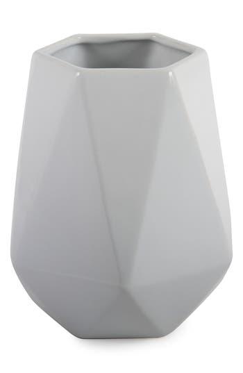 Core Home Geo Stoneware Vase, Size One Size - White