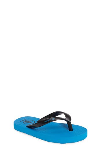 Boys Volcom Rocker Flip Flop Size 13 M  Blue