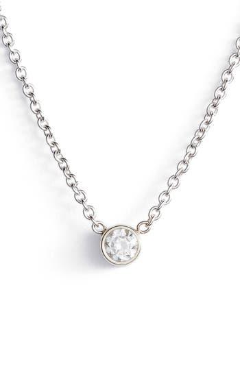 Zoë Chicco Diamond Bezel Pendant Necklace