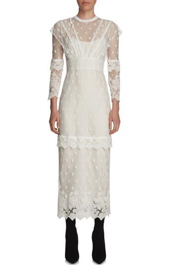 Burberry Lace Midi Dress