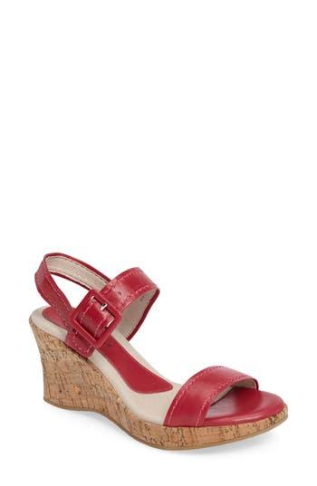 David Tate Newport Wedge Sandal, Pink