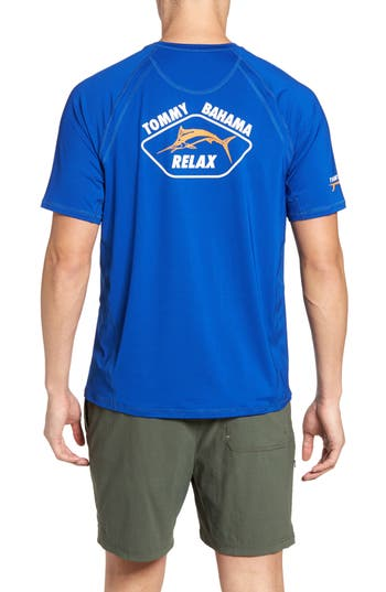 Big & Tall Tommy Bahama Surf City Graphic T-Shirt - Blue