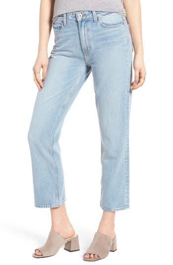 Paige Sarah High Waist Crop Straight Leg Jeans