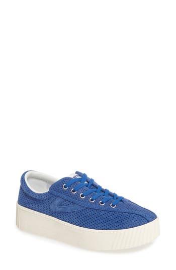 Tretorn Bold Perforated Platform Sneaker, Blue