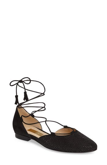 Gabor Studded Lace-Up Flat
