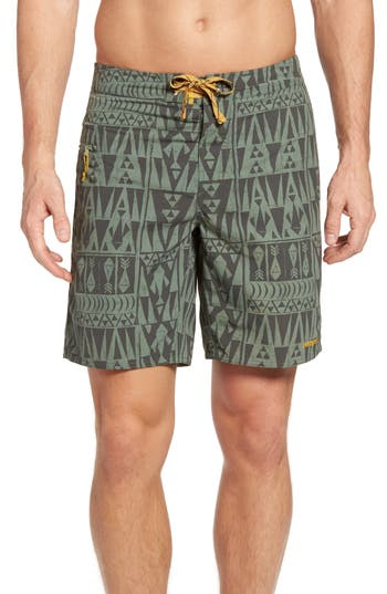 Patagonia Wavefarer Board Shorts, Green