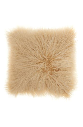 Mina Victory Genuine Tibetan Wool Shearling Pillow, Size One Size - Beige