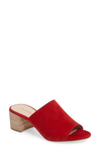 Women's Pelle Moda Union Block Heel Mule, Size 6.5 M - Red