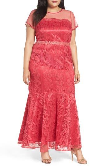 Plus Size Brianna Illusion Yoke Lace Mermaid Gown