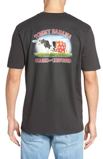Big & Tall Tommy Bahama Grazed And Confused Graphic T-Shirt, Grey