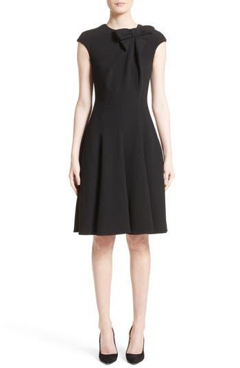 Women's Talbot Runhof Bow Detail Fit & Flare Dress