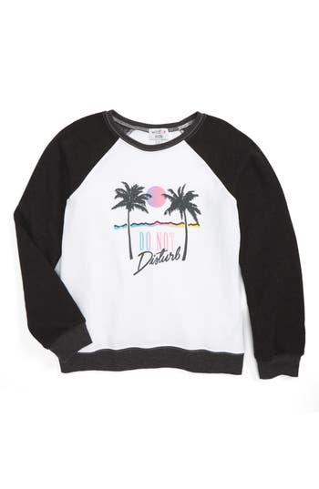 Girl's Wildfox Do Not Disturb Graphic Sweatshirt