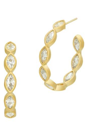 Freida Rothman Amazonian Allure Pointed Hoop Earrings hyDXoBQr
